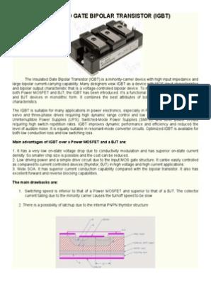 INSULATED GATE BIPOLAR TRANSISTOR docx   Bipolar Junction
