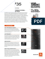 JBLpro PRX735 Datasheet Web Jan2014