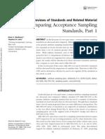 Acceptance Sampling Standards Part 1
