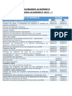 Calendario Academico 2015-1