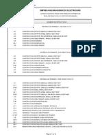 Listado de Estructuras 13,8 Kv