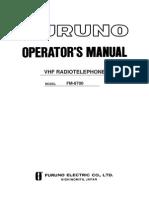 Furuno Fm 8700 Users Manual 429122