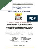 Perfil Piscigranja Cerro Alegre