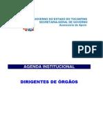 Agenda Institucional Do Governo Do Estado Do Tocantins