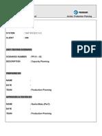 SAP PP Capacity Planning