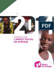 ONG Reach for Change Rapport de l''impact Afrique 2014