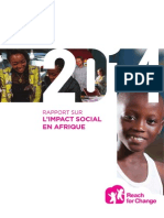 ONG Reach for Change Rapport de l''impact Afrique 2014