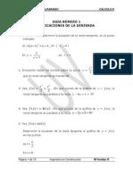 Guia 1 Aplicacones de La Derivada 2012 1