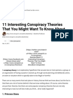 11 Interesting Conspiracy Theories That You Might Want to Know About
