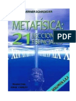 SCHROEDER Werner - 21 Lecciones Esenciales de Metafísica