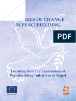 Change in Peace Building