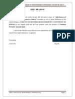 Effectiveness of Performance Appraisal