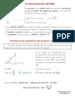 Producto Escalar y Vectorial de Vectores