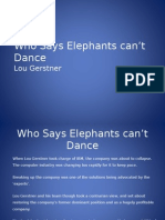 Who says elephants cant dance.ppt