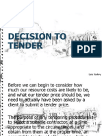 decision to tender