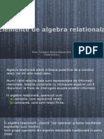 Elemente de Algebrica Relationala