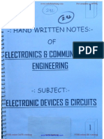 Electronic Devices & Circuis (EDC Notes)t