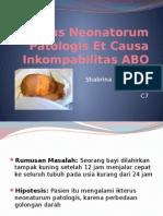 Ikterus Neonatorum Patologis Et Causa Inkompabilitas ABO