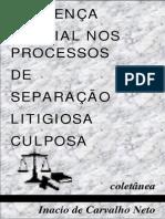 Inacio de Carvalho Neto - Sentença Parcial Nos Processos de Separação Litigios