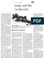 Climate Change and the Copenhagen Discord the Hindu 11 Feb 2010