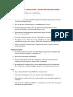 Ea Checklist Boiler