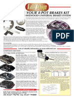 Designing 4 Pot Brakes