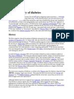 History of Diabetes
