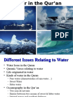 The Qur'an and Water, Properties of Water-Water Cycle and other issues.ppt