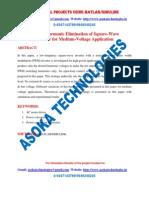 Natural Harmonic Elimination of Square-Wave Inverter for Medium-Voltage Application