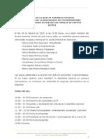Acta V Asamblea General 2015