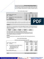 Trade Receivables and Payables Budgets