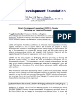 lidefo uganda internship and volunteer positions