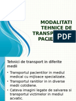 Modalitati Tehnice de Transport Al Pacientului