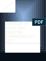 Changes in Audit Auditor Companies Act 2013
