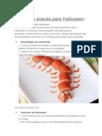 Divertidos Snacks Para Halloween