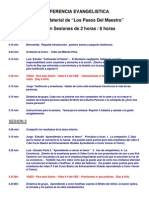 Agenda Para La Conferencia - 4 Dias de 2 Horas Cada Uno