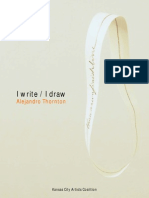 I Write / I Draw,  Alejandro Thornton at KCAC (Oct. 2014)