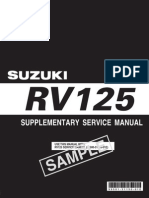 Suzuki Rv125 k7 Supp Manual