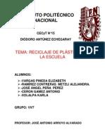 Reciclaje de Plasticos en La CECyT N 15