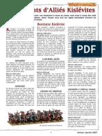 Warhammer - v6 - Liste Kislev (janvier 2007)