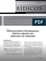 OBSOLESCÊNCIA PROGRAMADA- Prática Abusiva No Mercado de Consumo