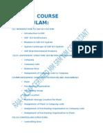SAP MM Course Curriculam