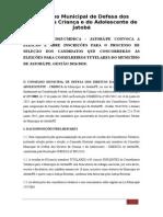 Edital Eleicao Conselheiros Tutelares JATOBA