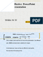 Tips for Effective PowerPoint Presentation