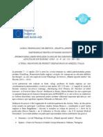Diseminare vizita de proiect Grundtvig in Italia
