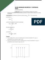 Distribuciones de Variables Discretas y Continuas