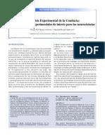 Art - El Análisis Experimental de La Conducta - Algunos Modelos Experimentales de Interés Para Las Neurociencias _ 6 Pp. _ 2010