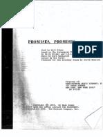 Promises, Promises Libretto