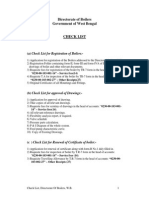 CHECKLIST of Boiler Dirctorate