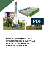 Manual de Operación y Mantenimiento Del Parque Nº 2 de La Cooperativa Vivienda Primavera